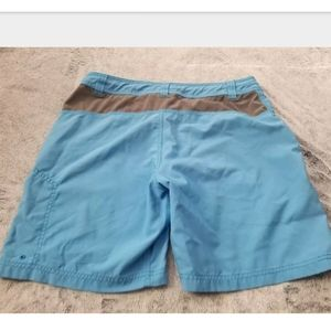 The North Face Shorts - The North Face Blue & Gray Athletic Shorts Size 36